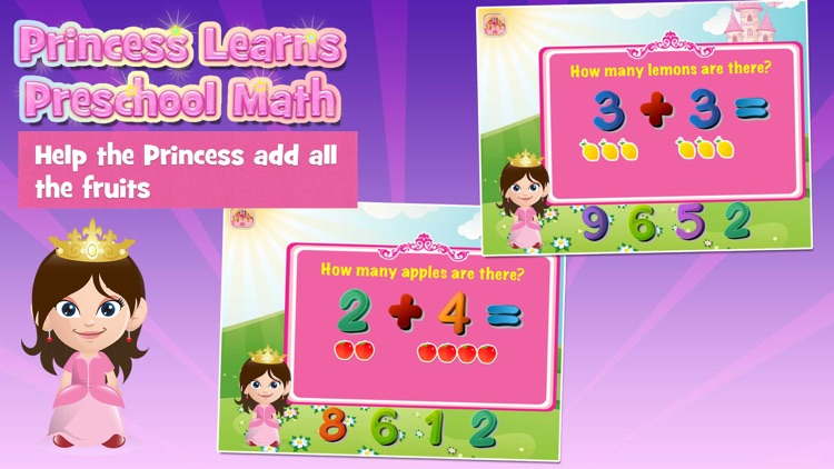 Princess Learns Preschool Math Activity for Kids