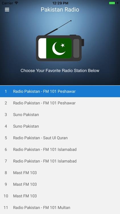 Pakistan Radio Station FM Live