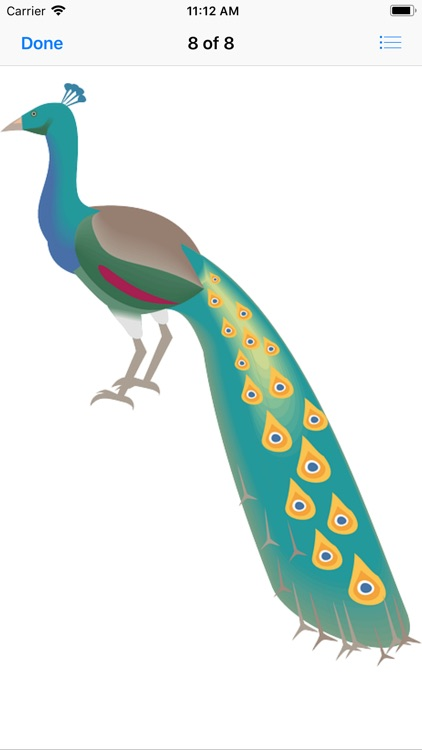 Pretty Peacock Stickers screenshot-9