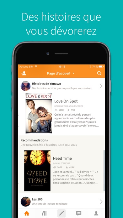 download Wattpad apps 1