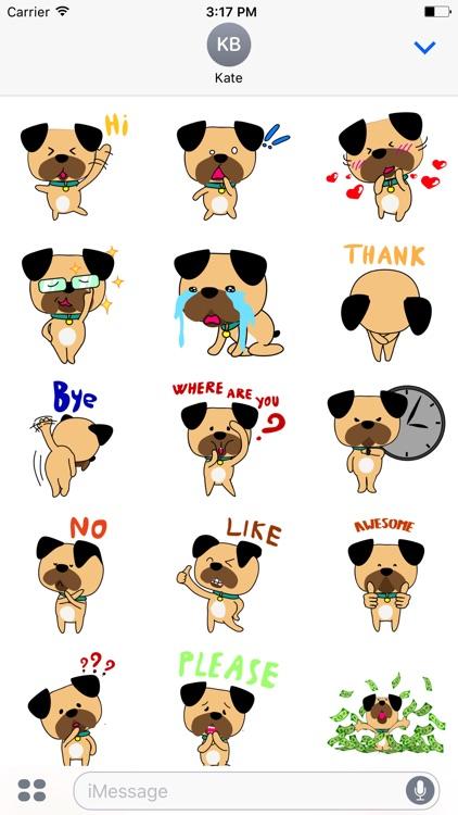 Funny bulldog stickers