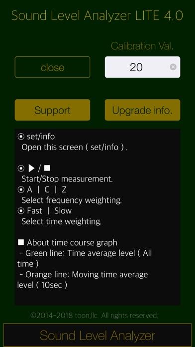Sound Level Analyzer Lite Screenshot on iOS