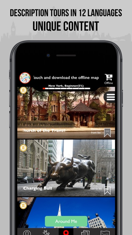 Offline Map Of New York For Iphone.New York Travel Guide Monument Offline Map By Monument Tracker
