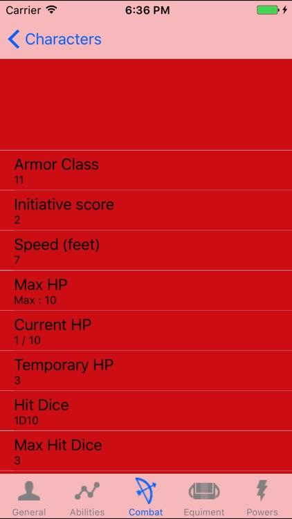 DnD5 Character Sheet - No Ads screenshot-3