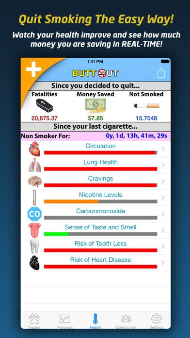 Screenshot for Quit Smoking - Butt Out Pro in Jordan App Store