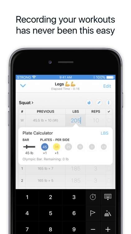 Strong Workout Tracker: Gym Log, Exercise Journal