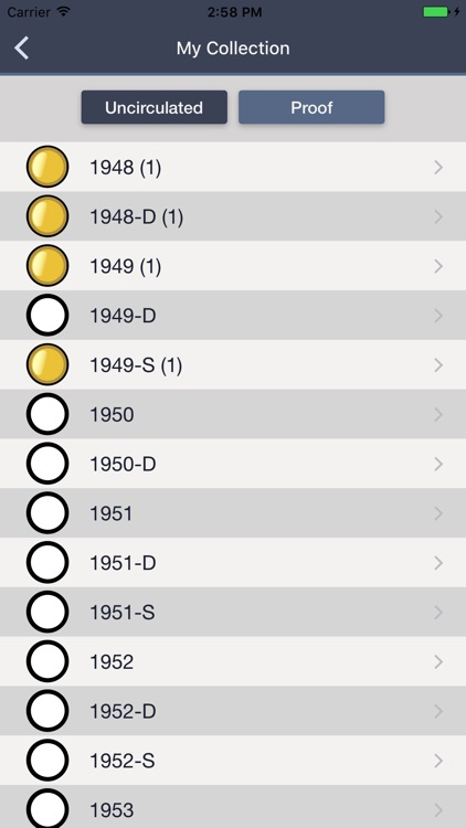 Franklin Half Dollars - Coin Collection Tracker screenshot-3