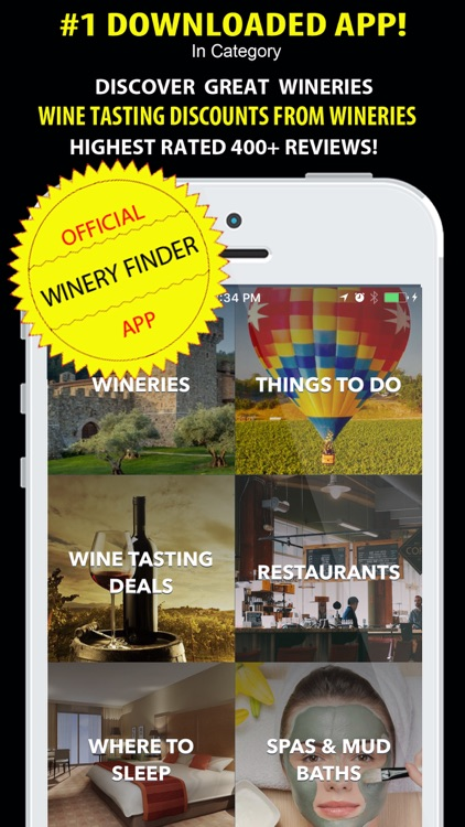 Napa Valley Winery Finder: City Guide Wine Country screenshot-0