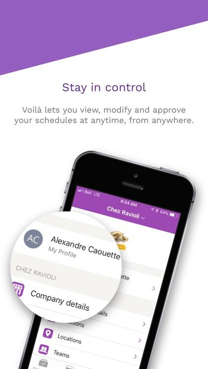Voilà! - Employee Scheduling screenshot-3
