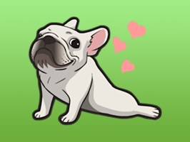 Cute French Bulldog Stickers
