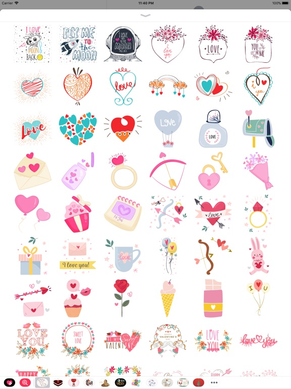 Hand Drawn Send Love Stickers screenshot 8
