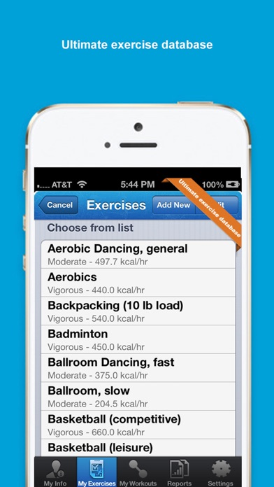 Iexercise Journal review screenshots
