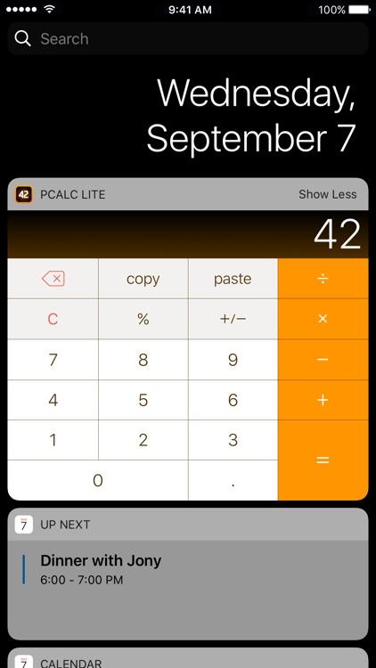 PCalc Lite screenshot-4