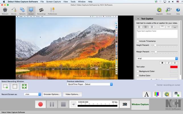 debut video capture software mac download