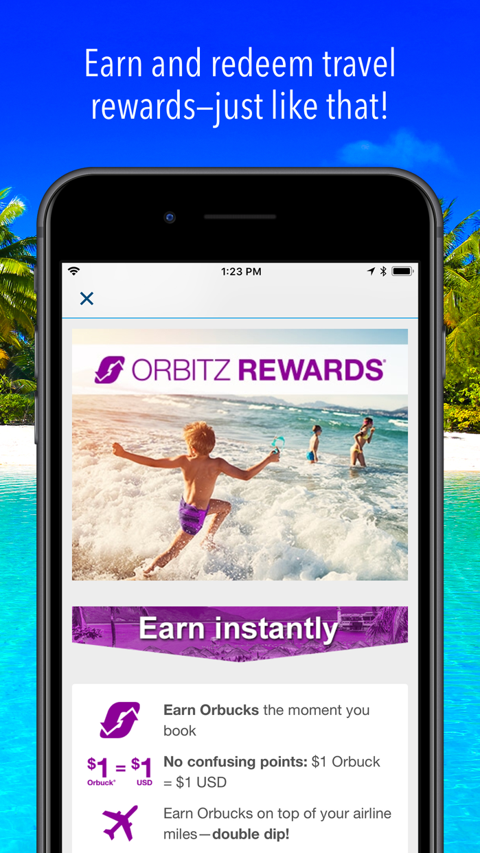 Orbitz Flight, Hotel, Packages Screenshot