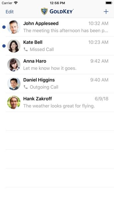 GoldKey Phone Screenshots