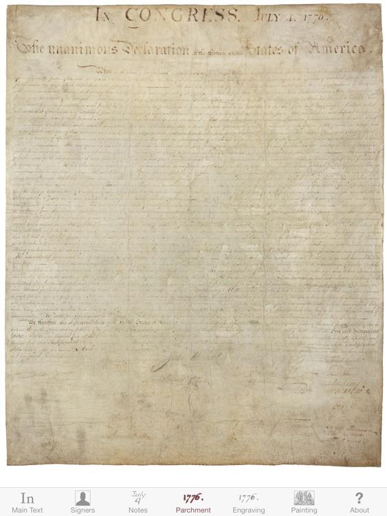 Declaration for iPad
