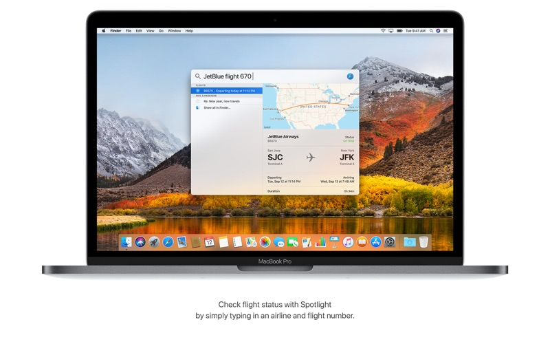 macOS High Sierra Screenshot