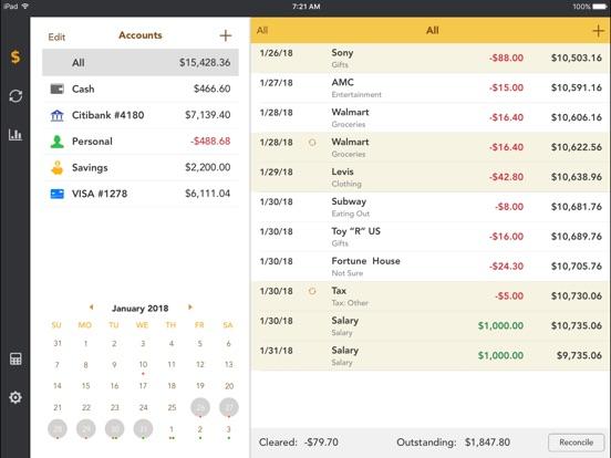 checkbook account tracker app price drops