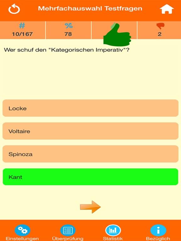 Der Philosophie Wissenstest screenshot 7