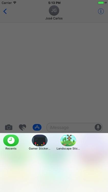 Landscapes Sticker Pack for iMessage screenshot-3