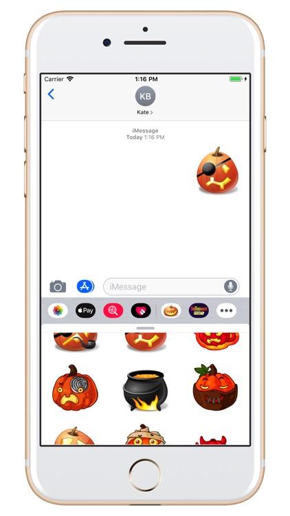 Halloween - Pumpkin emoji screenshot-4