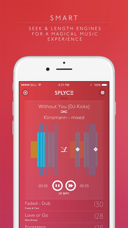 Splyce - fancy music player with automix. Pulselocker Edition!