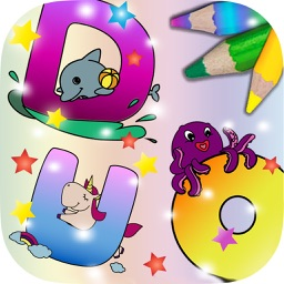 ABC learning English - alphabet painting educational game of animals