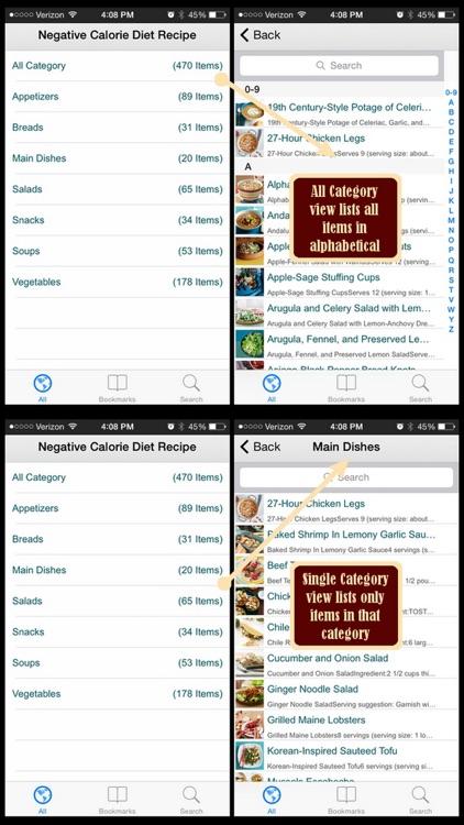 500 Negative Calorie Diet Recipes screenshot-3