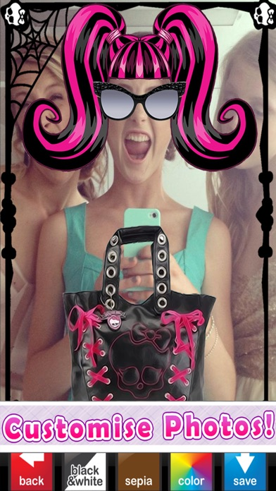 Monster-Mädchen Foto-automat: Ghul Dress up, Bilder-rahmen & Selfie EditorScreenshot von 4