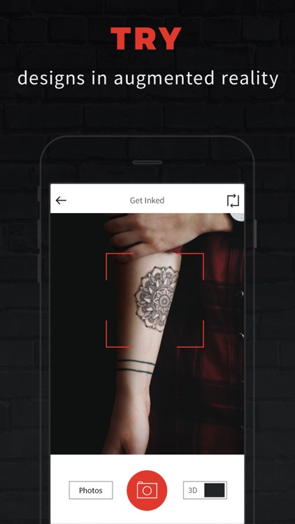 INKHUNTER try tattoo designs in augmented reality