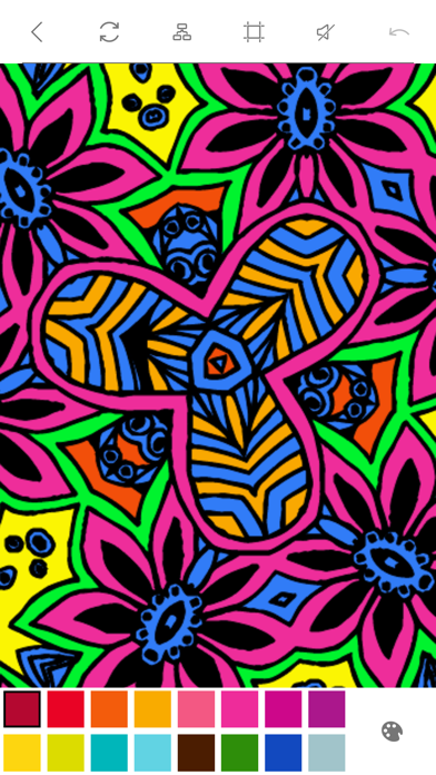 Mandalas to Color - Stress Relievers Relaxation Techniques Coloring Book for AdultsScreenshot of 4