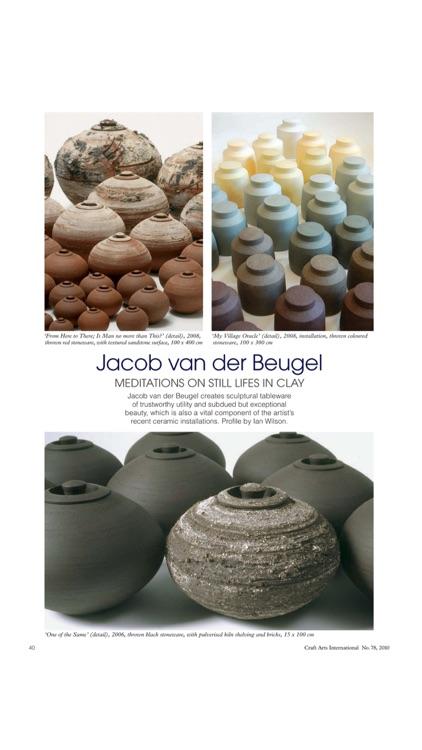 Craft Arts International Magazine – Contemporary, Visual and Applied Arts screenshot-4
