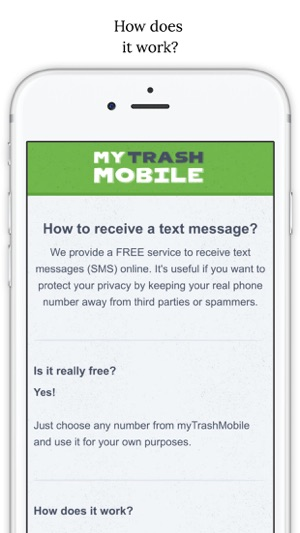 Trash Mobile - for verify WhatsApp on the App Store