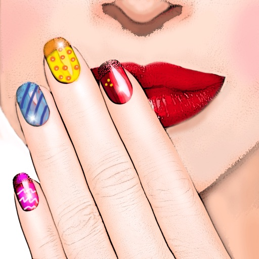 Nail Art Design – Manicure Make-over in a Trendy Beauty Salon for Girl.s