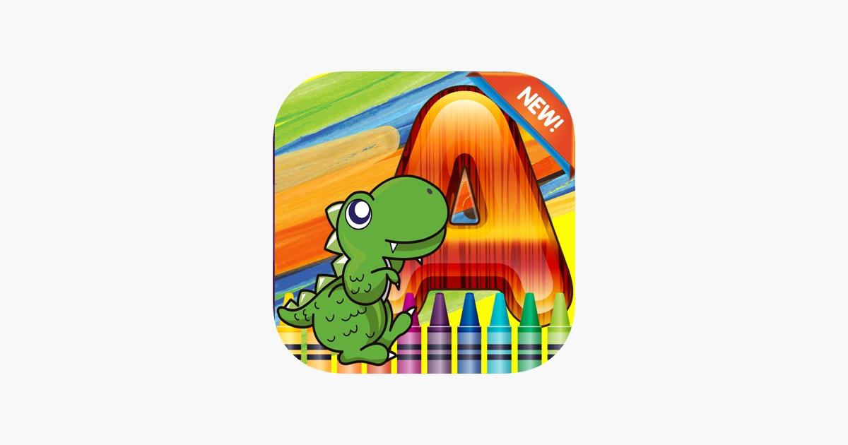 Dinosaurier-Welt Alphabet Malbuch Grad 1-6: Malvorlagen Spiele ...