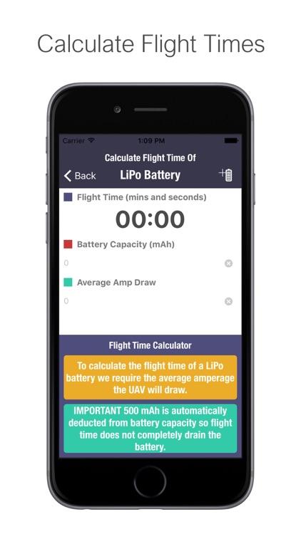 UAV (UAS) Battery Flight Timer / Log screenshot-3