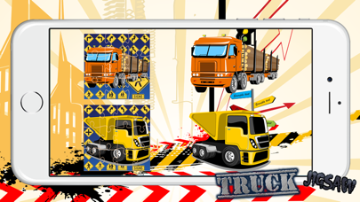 Monster Truck Puzzles : Auto Crane Jigsaw for Boys screenshot two