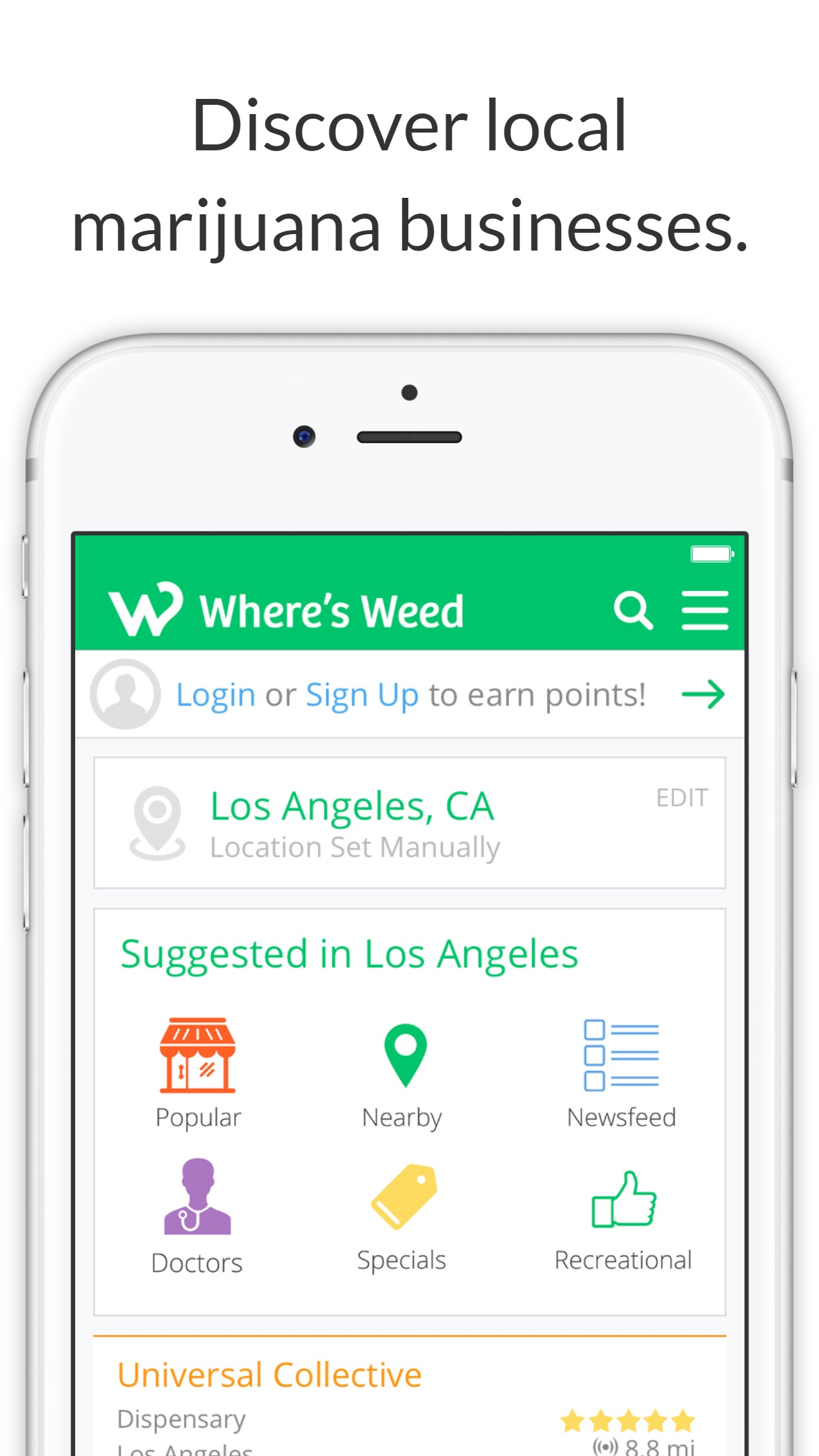 Where's Weed Marijuana Strains & Dispensary Maps Screenshot