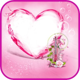 Pink Hearts Photo Frames