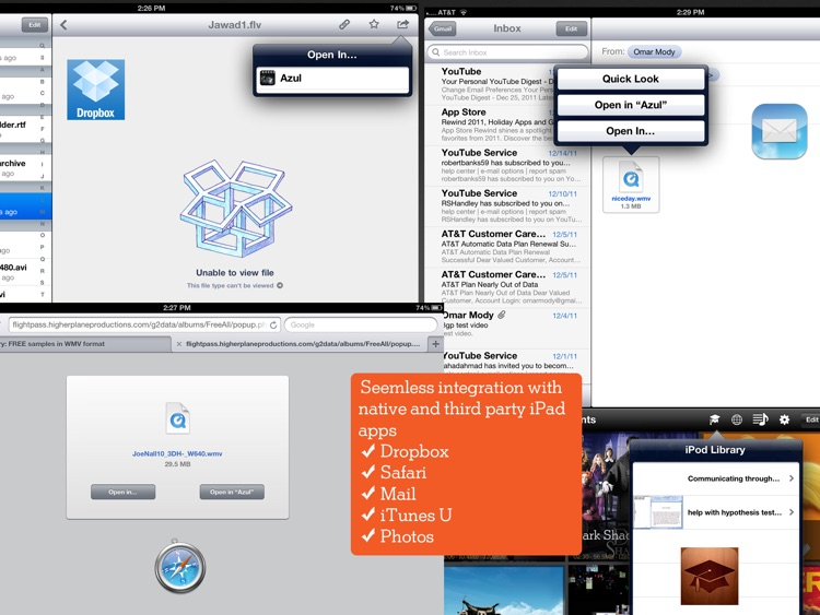 Azul Media Player - Video player for your iPad screenshot-3