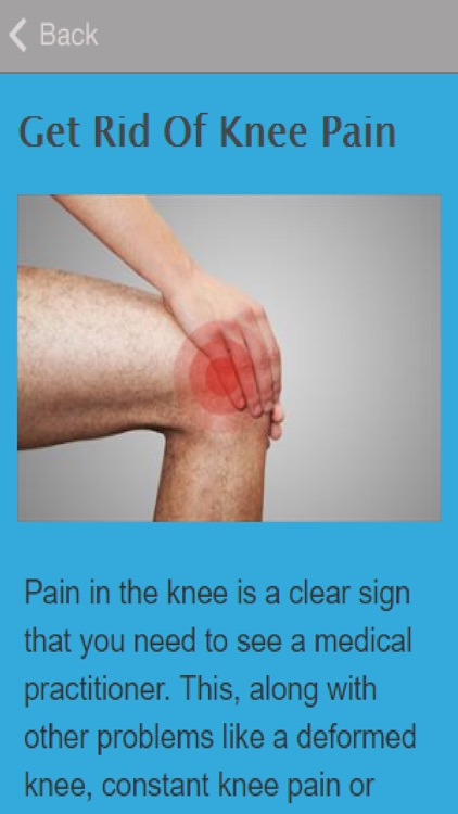 How To Get Rid Of Knee Pain