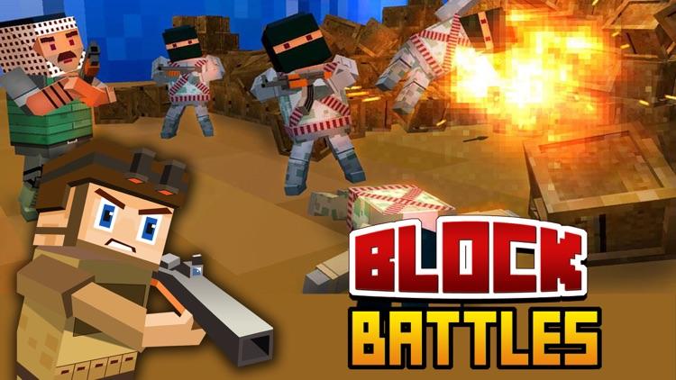 Block Battles City Crime Defense : Pixel war Gun-Craft Sniper Shooting Games