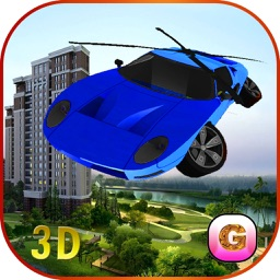 Flying Car Helicopter - Future Driving Stunts - Airplane Flight Pilot