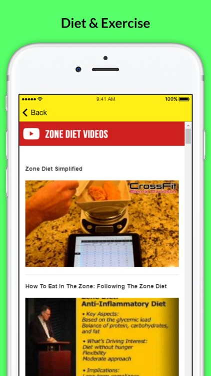 Zone Diet - Enter The Weight Loss Zone screenshot-3