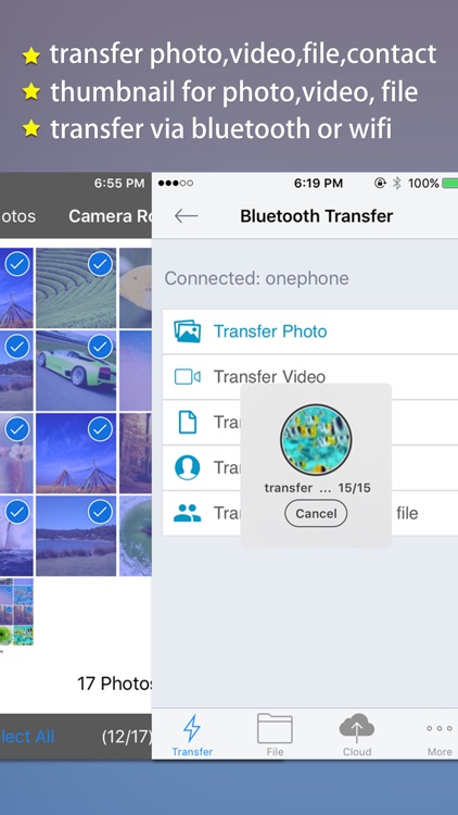 Transfer Master -Transfer photo,video,file,contact screenshot-1