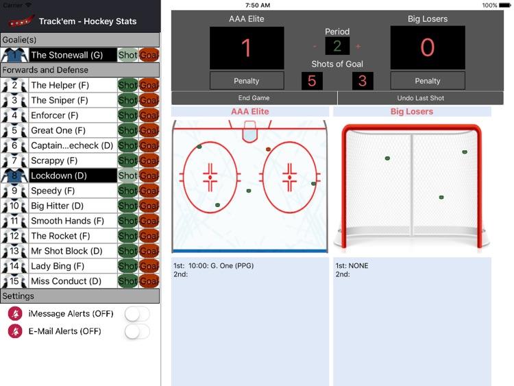 Track'em - Hockey Stats iPad screenshot-3