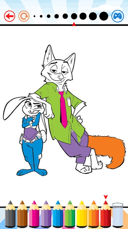 Coloring Book For Kid Education Game - Nick and Judy Edition Drawing And Painting Free Game HD