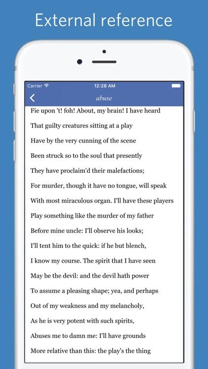 Shakespeare Glossary - Advanced Edition