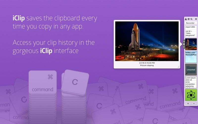 iClip - ClipArt Recorder Screenshots